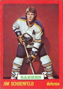 jim schoenfeld buffalo sabres 1973-74 o-pee-chee nhl hockey card