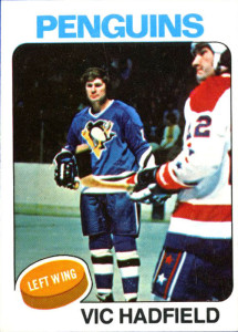 vic hadfield pittsburgh penguins 1975-76 o-pee-chee nhl hockey card