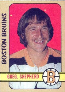 gregg sheppard boston bruins 1972-73 o-pee-chee rookie hockey card