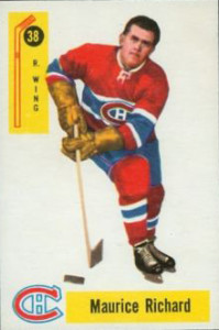 maurice richard montreal canadiens 1958-59 parkhurst nhl hockey card