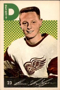 bruce macgregor detroit red wings 1962-63 parkhurst nhl rookie hockey card