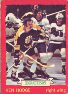 ken hodge boston bruins 1973-74 o-pee-chee nhl hockey card