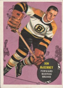 don mckenney boston bruins 1961-62 topps nhl hockey card