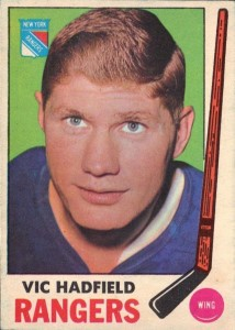 vic hadfield new york rangers 1969-70 o-pee-chee hockey card
