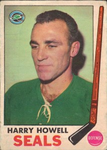 harry howell oakland seals 1969-70 o-pee-chee hockey card