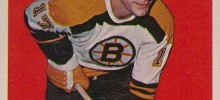 dean prentice boston bruins 1965-66 nhl hockey card