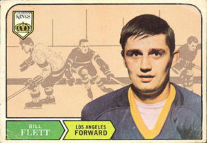 bill flett los angeles kings 1968-69 o-pee-chee nhl rookie hockey card