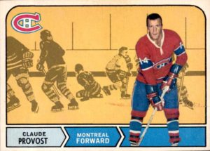 claude provost montreal canadiens 1968-69 o-pee-chee nhl hockey card