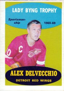 alex delvecchio detroit red wings 1969-70 o-pee-chee hockey card