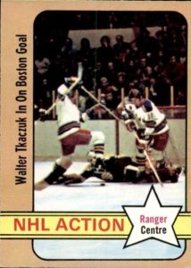walt tkaczuk new york rangers 1972-73 o-pee-chee nhl hockey card