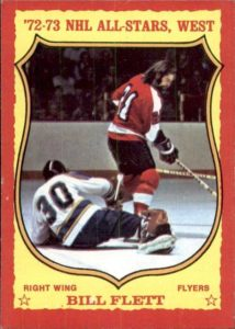bill flett philadelphia flyers 1973-74 o-pee-chee nhl hockey card
