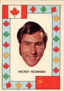 mickey redmond team canada 1972-73 o-pee-chee summit series hockey card