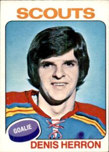 denis herron kansas city scouts 1975-76 o-pee-chee hockey card