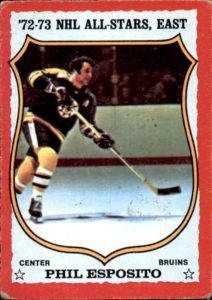 phil esposito boston bruins 1973-74 o-pee-chee hockey card