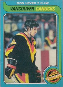 don lever vancouver canucks 1979-80 o-pee-chee hockey card