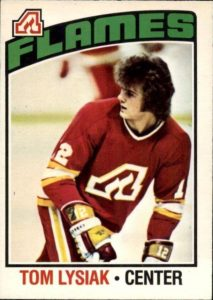 tom lysiak atlanta flames 1976-77 o-pee-chee nhl hockey card