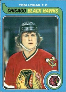 tom lysiak chicago blackhawks 1979-80 o-pee-chee nhl hockey card