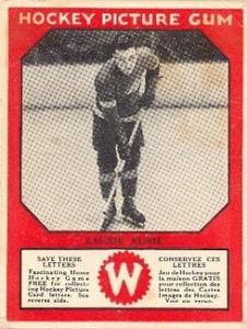 larry aurie detroit red wings 1933-34 canadian gum hockey card