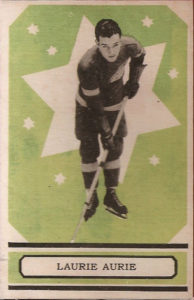 larry aurie detroit red wings 1933-34 o-pee-chee nhl hockey card