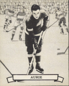 larry aurie detroit red wings 1936-37 o-pee-chee nhl hockey card