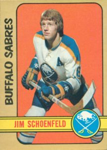 jim schoenfeld buffalo sabres 1972-73 o-pee-chee nhl rookie hockey card