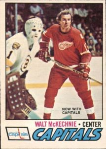 walt mckechnie washington capitals 1977-78 o-pee-chee nhl hockey card