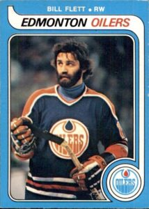 bill flett edmonton oilers 1979-80 o-pee-chee nhl hockey card