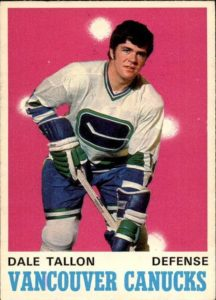 dale tallon vancouver canucks 1970-71 o-pee-chee nhl rookie hockey card