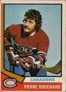 pierre bouchard montreal canadiens 1974-75 o-pee-chee nhl hockey card