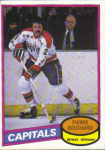 pierre bouchard washington capitals 1980-81 o-pee-chee nhl hockey card