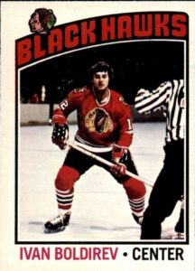 ivan boldirev chicago blackhawks 1976-77 o-pee-chee nhl hockey card