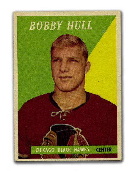 3000 Bobby Hulls 1958 59 Topps 66 Rookie Card Vintage