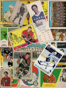 vintage hockey cards collage