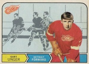 garry unger rookie card 1968-69 o-pee-chee detroit red wings