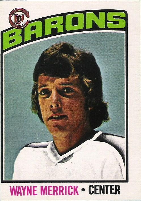 wayne merrick cleveland barons 1976-77 o-pee-chee hockey card