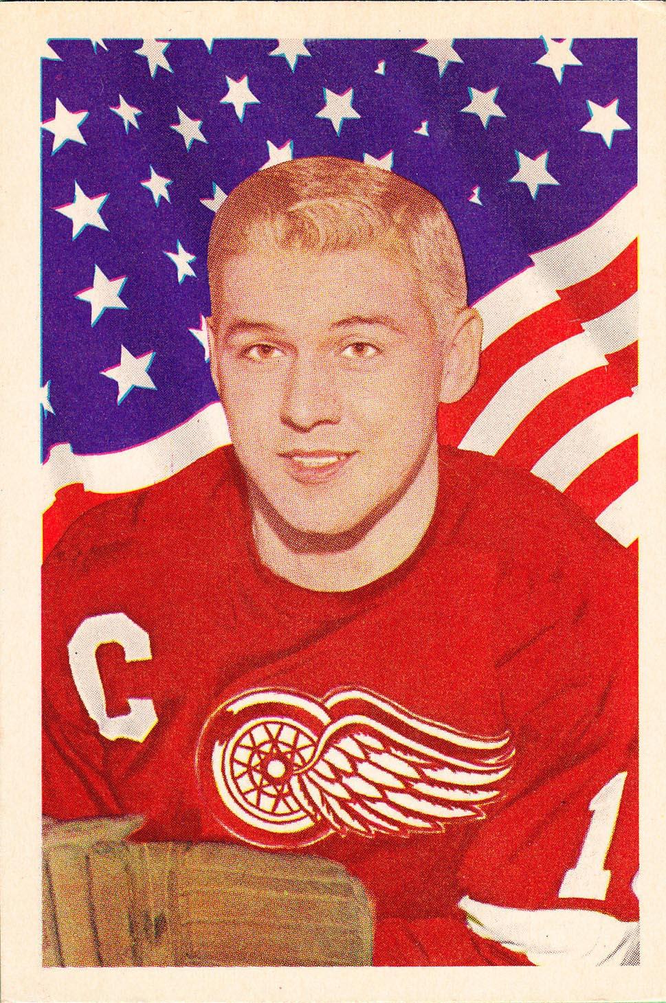 alex delvecchio detroit red wings 1963-64 parkhurst nhl hockey card