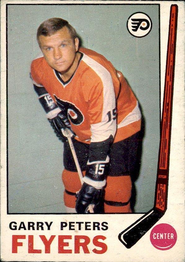 garry peters philadelphia flyers 1969-70 o-pee-chee nhl hockey card