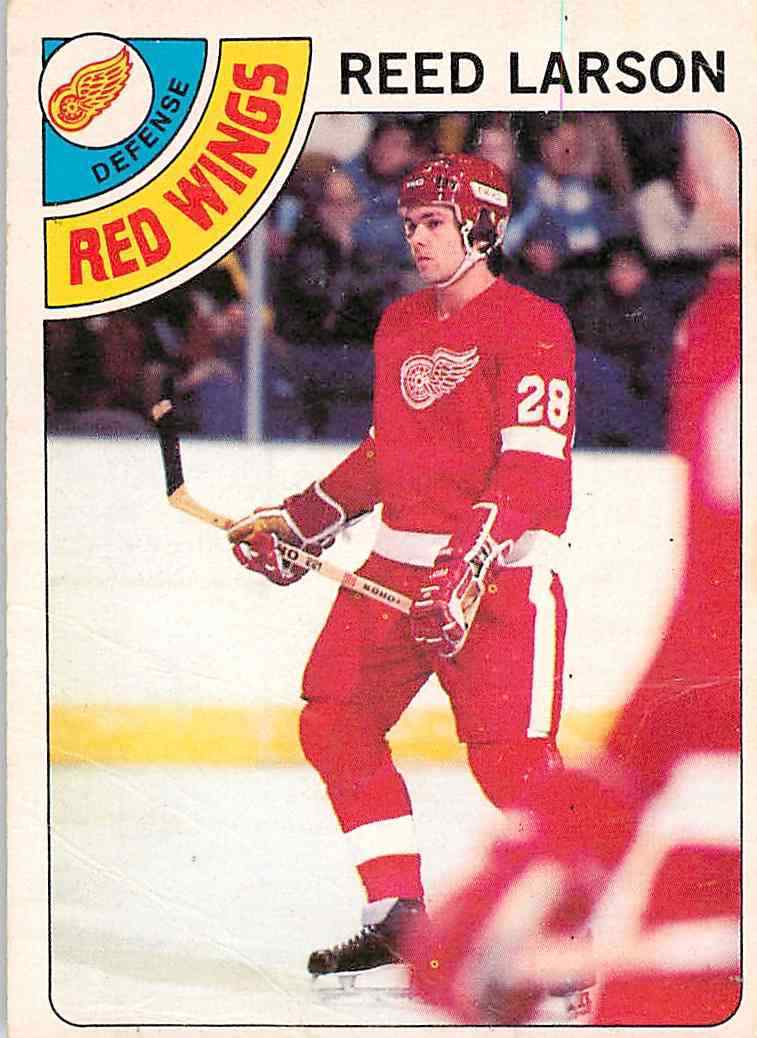 reed larson detroit red wings 1978-79 o-pee-chee rookie hockey card